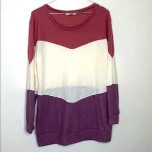 Veveret | Color block | Pullover | Sweater | 1X